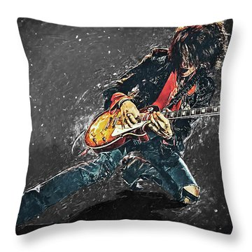 Joe Perry Throw Pillow