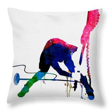 Paul Watercolor Throw Pillow