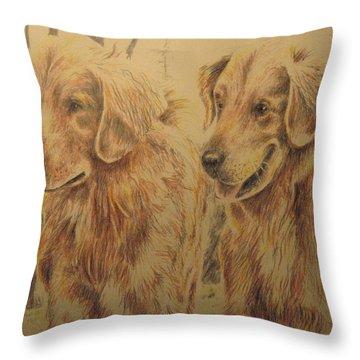 Joe's Dogs Throw Pillow