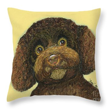 Joey Poodle Mix Throw Pillow