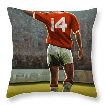 Johan Cruyff Oranje Nr 14 Throw Pillow