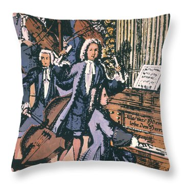 Johann Sebastian Bach, 1732 Throw Pillow by Granger