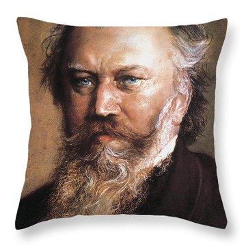 Johannes Brahms Throw Pillow by Granger