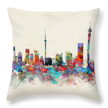 Johannesburg South Africa Skyline Throw Pillow