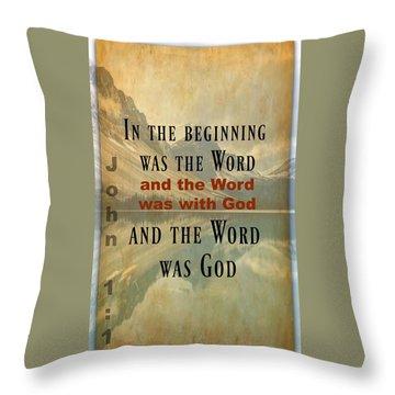 John 1 1 Throw Pillow