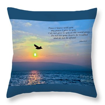 John 14  27 Throw Pillow