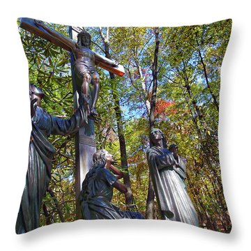 Throw Pillow featuring the photograph John 3 16 by Mitch Cat