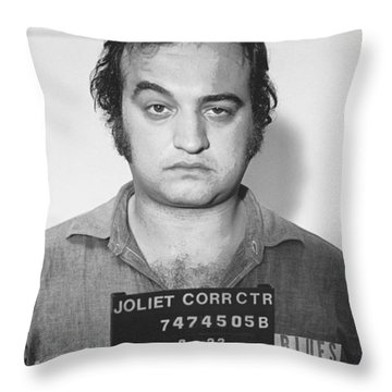 John Belushi Mug Shot For Film Vertical Throw Pillow by Tony Rubino
