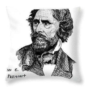 John C. Fremont Throw Pillow