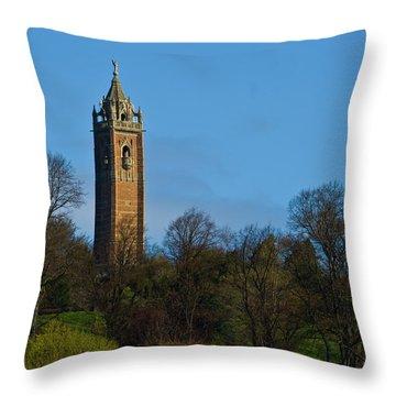 John Cabot Tower Throw Pillow