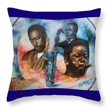 Blaa Kattproduksjoner     John Coltrane - Jazzed  Throw Pillow