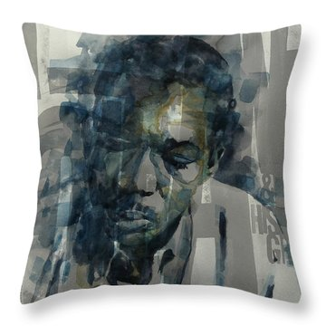 Throw Pillow featuring the mixed media John Coltrane  by Paul Lovering