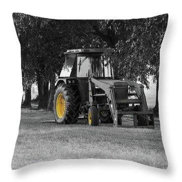 John Deere 620 In Selective Color Throw Pillow