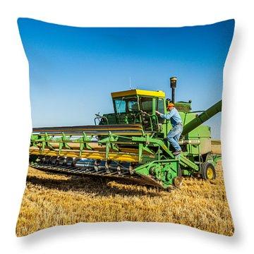 John Deere 6600 Throw Pillow