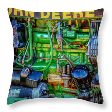 John Deere Engine Throw Pillow