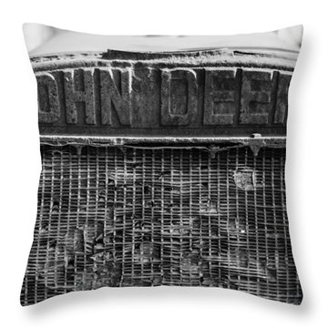 John Deere In Monochrome Throw Pillow