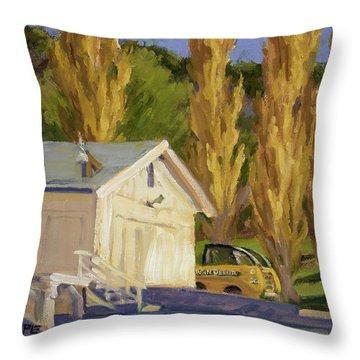 John Deere Throw Pillow by Jane Thorpe