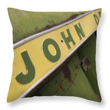John Deere Throw Pillow by Jeffery Ball