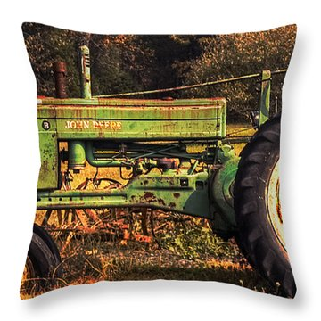 John Deere Retired Throw Pillow