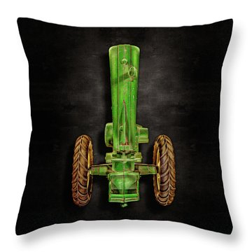 John Deere Top On Black Throw Pillow by YoPedro
