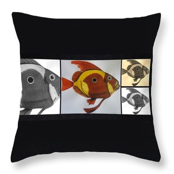 John Dory Collage Throw Pillow