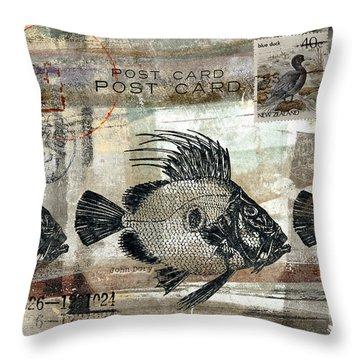 John Dory Fish Postcard Throw Pillow