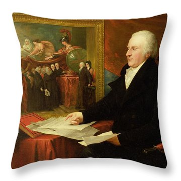 John Eardley Wilmot  Throw Pillow by Benjamin West