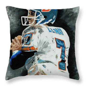 John Elway 1 Throw Pillow