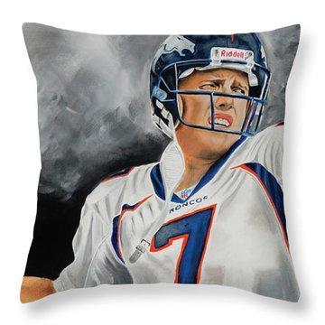 John Elway 2  Throw Pillow