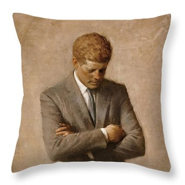 John F Kennedy Throw Pillow