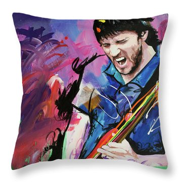 John Frusciante Throw Pillow by Richard Day