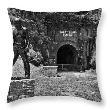 John Henry - Steel Driving Man Throw Pillow