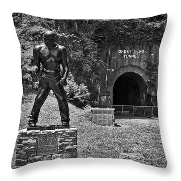 John Henry - Steel Driving Man Throw Pillow