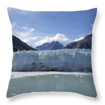 John Hopkins Glacier 14 Throw Pillow