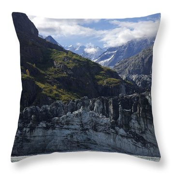 John Hopkins Glacier 15 Throw Pillow