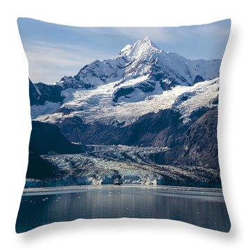 John Hopkins Glacier 3 Throw Pillow