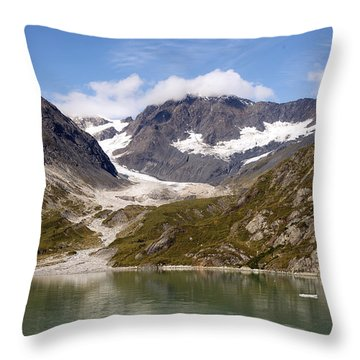 John Hopkins Glacier 5 Throw Pillow