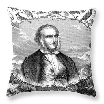 John James Audubon Throw Pillow by Granger