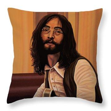 John Lennon Imagine Throw Pillow