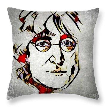 John Lennon Throw Pillow