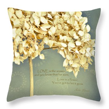 John Lennon Love Throw Pillow