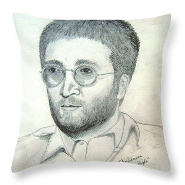 John Lennon Power To The People Throw Pillow