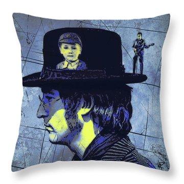 John Lennon Throw Pillow by Russell Pierce