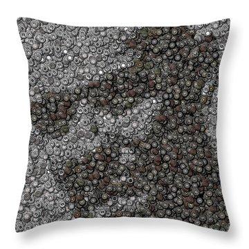 John Locke Dharma Button Mosaic Throw Pillow by Paul Van Scott