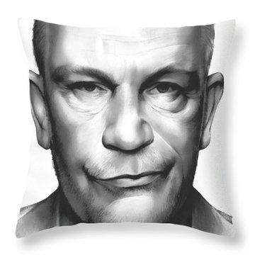 John Malkovich Throw Pillow by Greg Joens