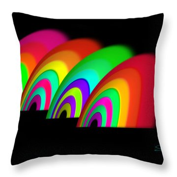John Moores Liverpool Exhibition 12 Throw Pillow by Charles Stuart