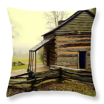 John Olivers Cabin Throw Pillow