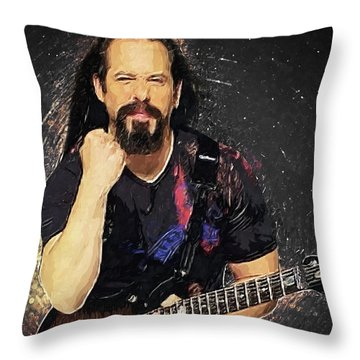 Dave Mustaine Throw Pillows