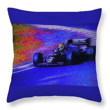 Throw Pillow featuring the mixed media John Player Special by Marvin Spates