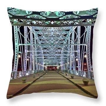 John Seigenthaler Pedestrian Bridge Throw Pillow